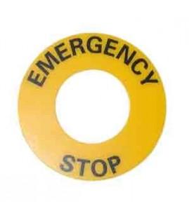 Bague d'arrêt d'urgence pour coup de poing d'arrêt d'urgence