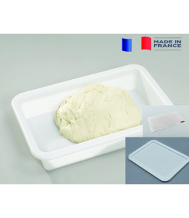 Pack: 5 bacs 9.8L + couvercles + tapis silicone