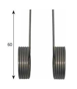 5 spires, droit à torsion pour racleur de façonneuse adaptable sur JAC -