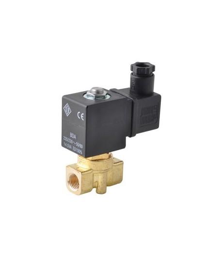 230V, fermée 1/8'' et 1/4''- Section 1/8', électrovanne laiton